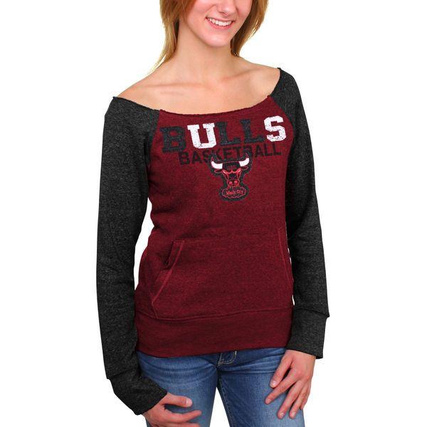 deb34c6f4e198 Chicago Bulls 5th and Ocean Women s Hardwood Classics Fleece Long Sleeve T- Shirt – Red -  44.99