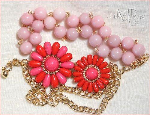 #Flower Pendant Pink Jade #Necklace  | Melekdesigns - Jewelry on ArtFire
