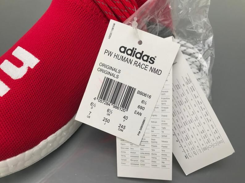 "946d6dcb0d072 Adidas NMD Human Race Pharrell Williams ""Red"" Real Boost BB0616 for Sale"