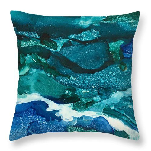 Storm At Sea Throw Pillow for Sale by Lynn Tolson