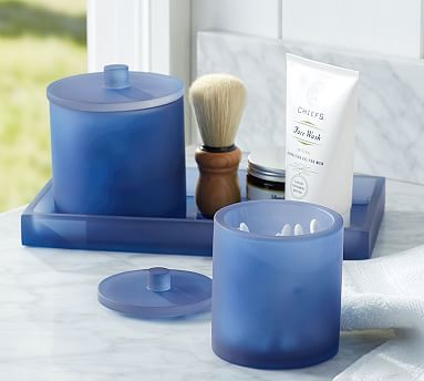 Beau Serra Mix And Match Bath Accessories   Navy Blue #potterybarn