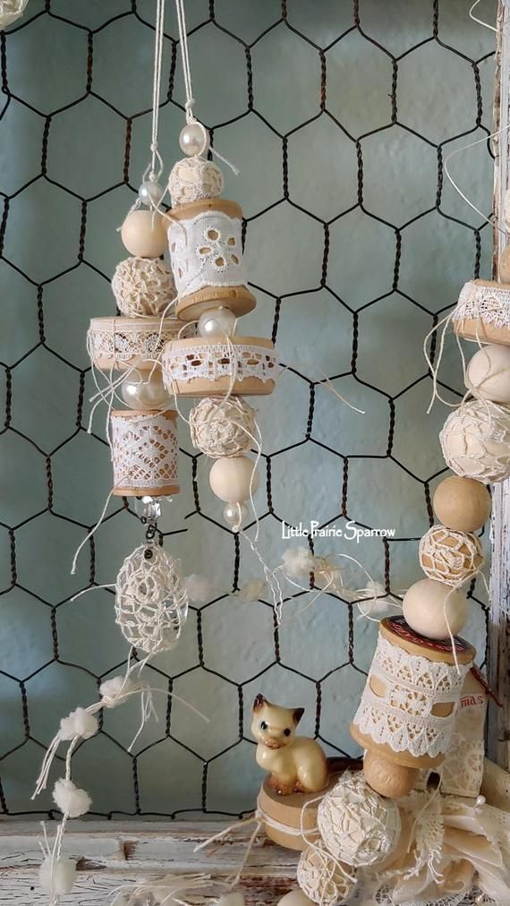 Wooden Bead Chandelier Wedding