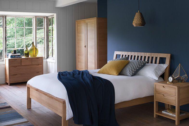 The Bosco oak bedroom furniture range is designed for comfort and
