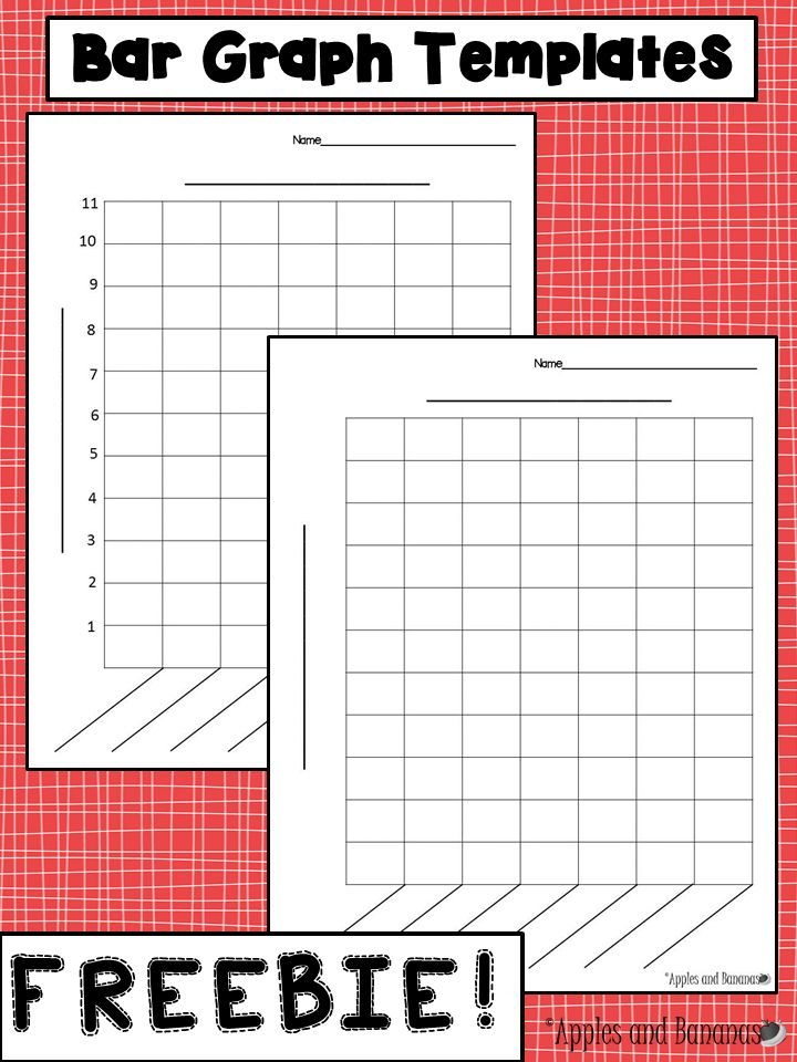 FREE Bar Graph templates - with and without a scale for a variety of