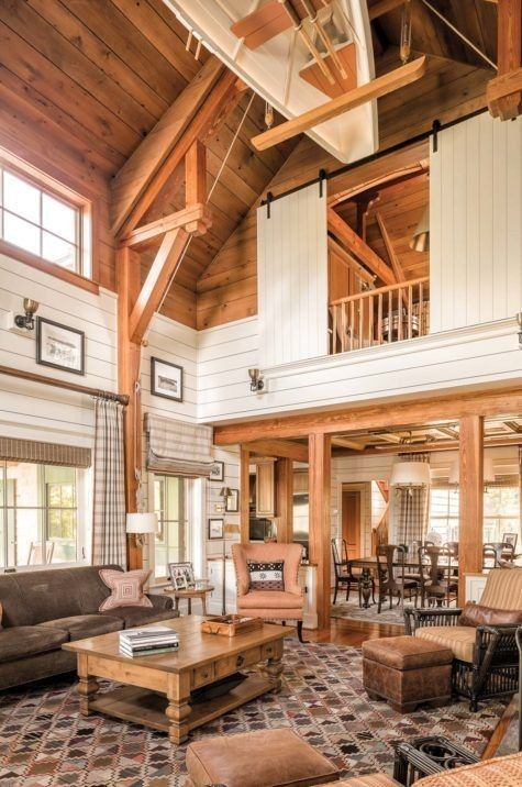 Pin By Berengere Coussieu On Beach Homes In 2020 Barn House Interior Barn Style House Barn House Plans
