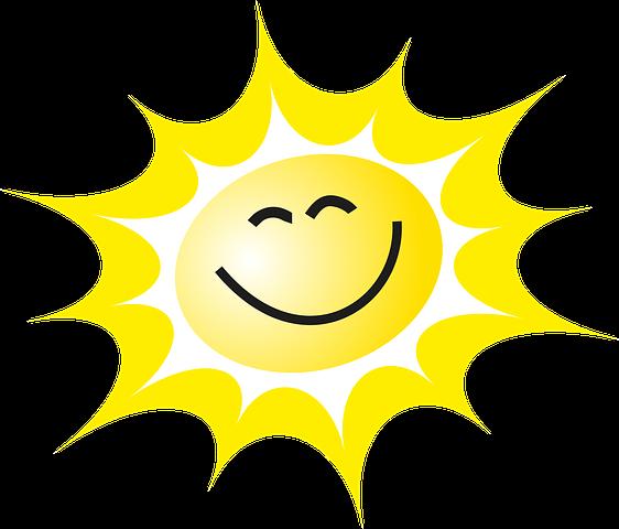 Gratis obraz na Pixabay - Słońce, Uśmiech, Promienie, Żółty ...