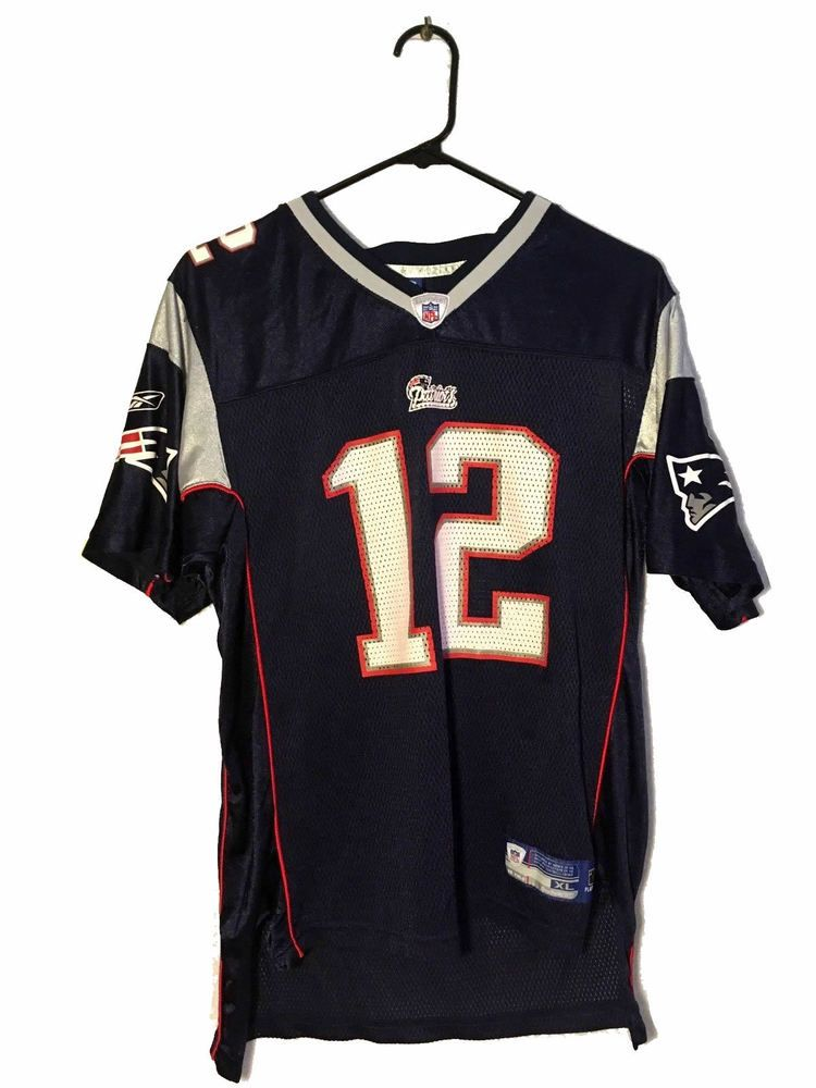 6f648fe68 Reebok Tom Brady New England Patriots Replica Jersey Youth Blue XL NFL On  Field  Reebok  NewEnglandPatriots
