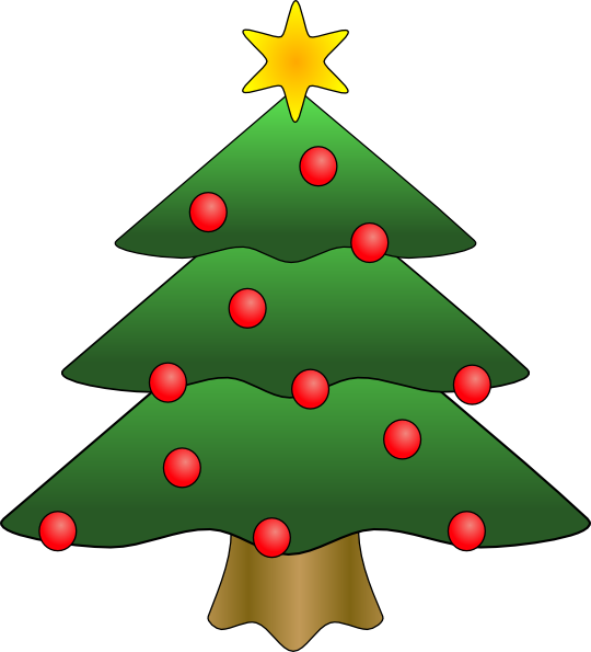 christmas tree in snow clipart, photo, images, and cartoon