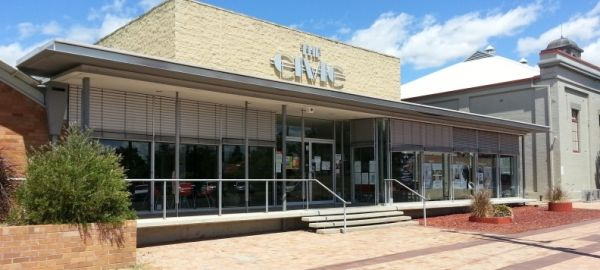 Gunnedah Creative Arts Centre > movies, Theatre and gallery >  http://www.thecivic.com.au/index.php/en/