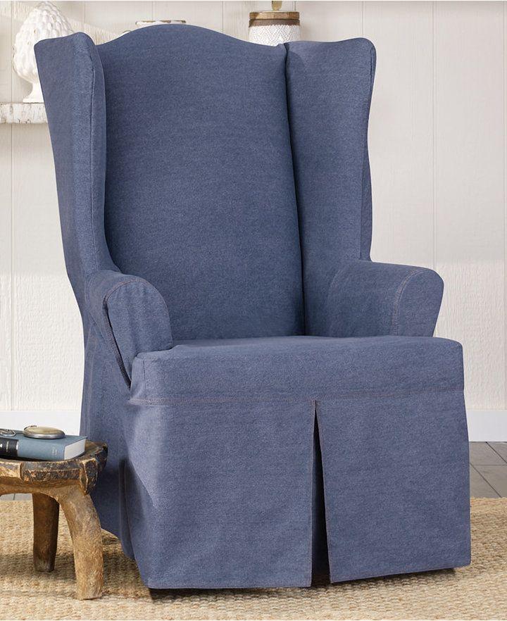 Sure Fit Authentic Denim One Piece TCushion Chair