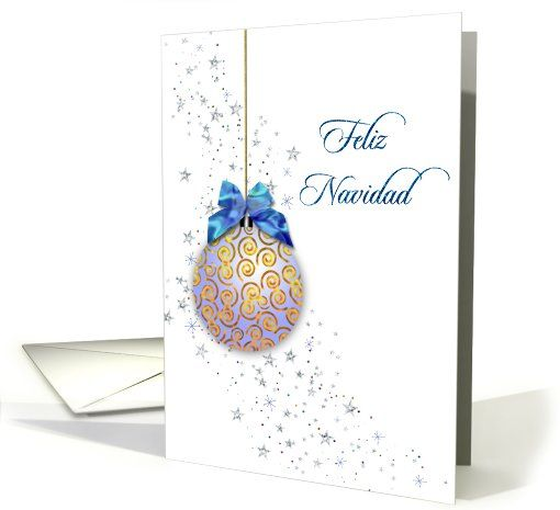Spanish christmas card blue ornament and stars card spanish christmas spanish christmas card blue ornament and stars card m4hsunfo