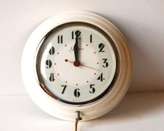1950s Sessions Wall Clock Vintage Electronic Art Deco