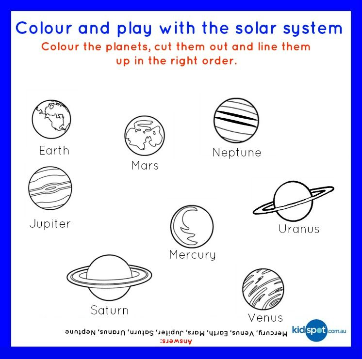 Fruity Solar System FREE Printable Food Fun For Kids – Solar System Worksheets