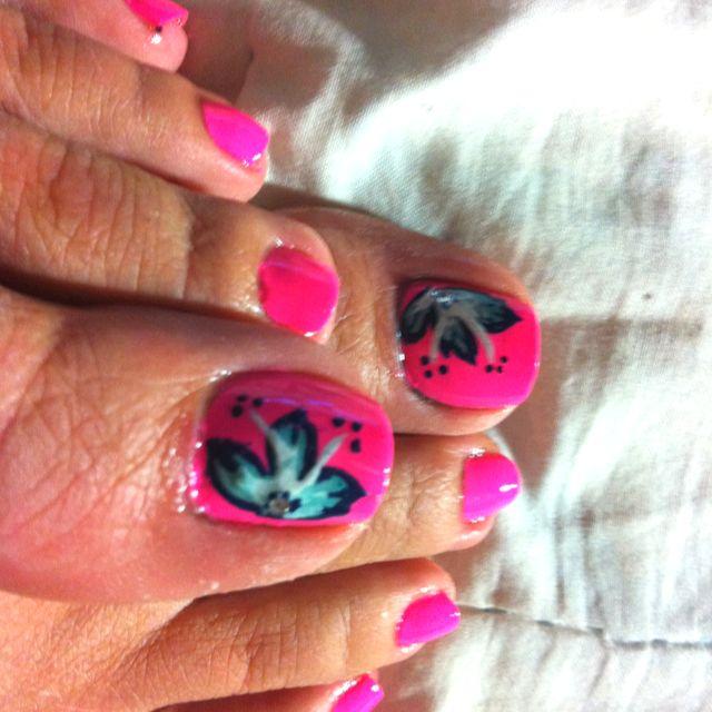 Tropical flower-nail art | NAILED IT!! | Pinterest ...