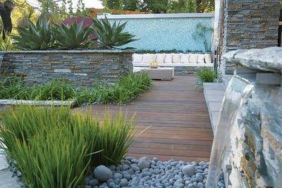 jardines modernos con piedras