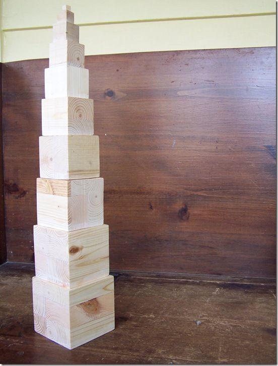 how to make montessori pink tower