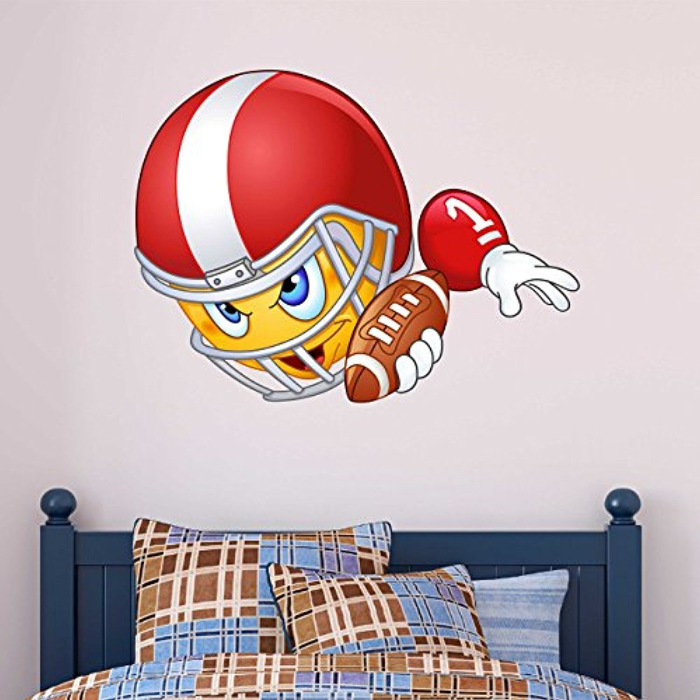 Boys Football Emoji Kids Wall Sticker Emoticon Read More Reviews