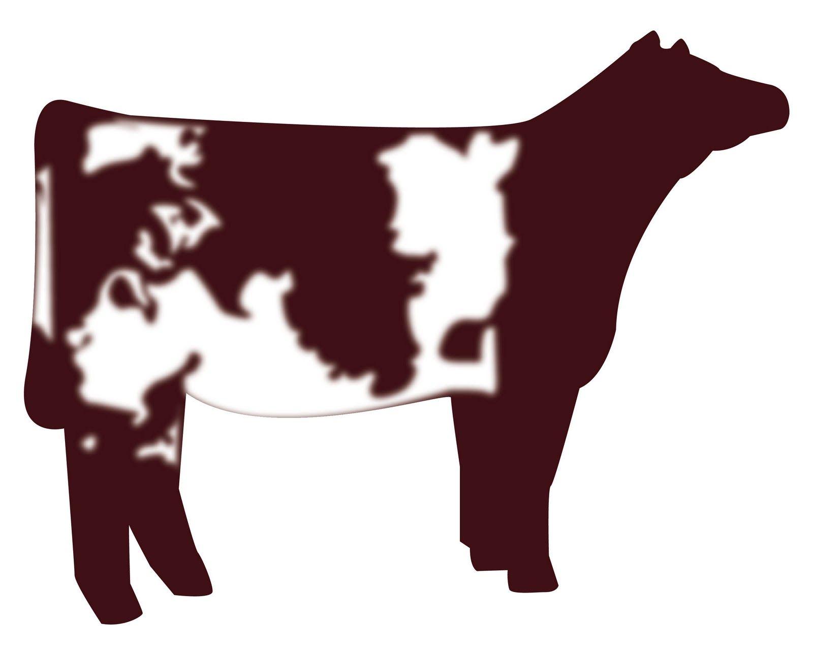 show heifer clip art | Shorthorn Heifer vector graphic