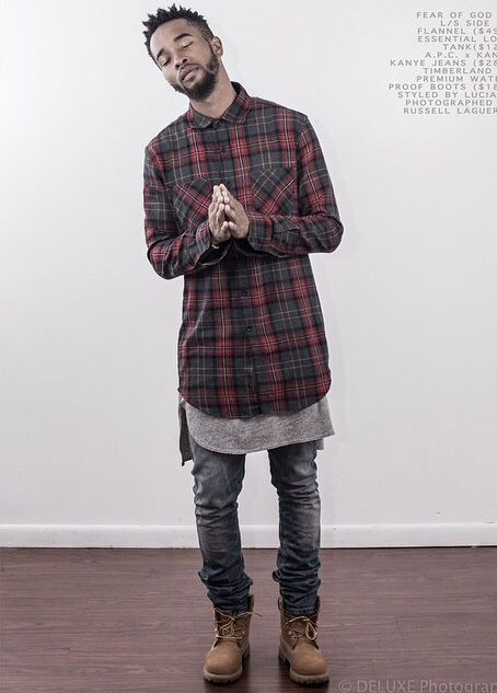 56485991e6 Stylish urban look for men - long checkered shirt