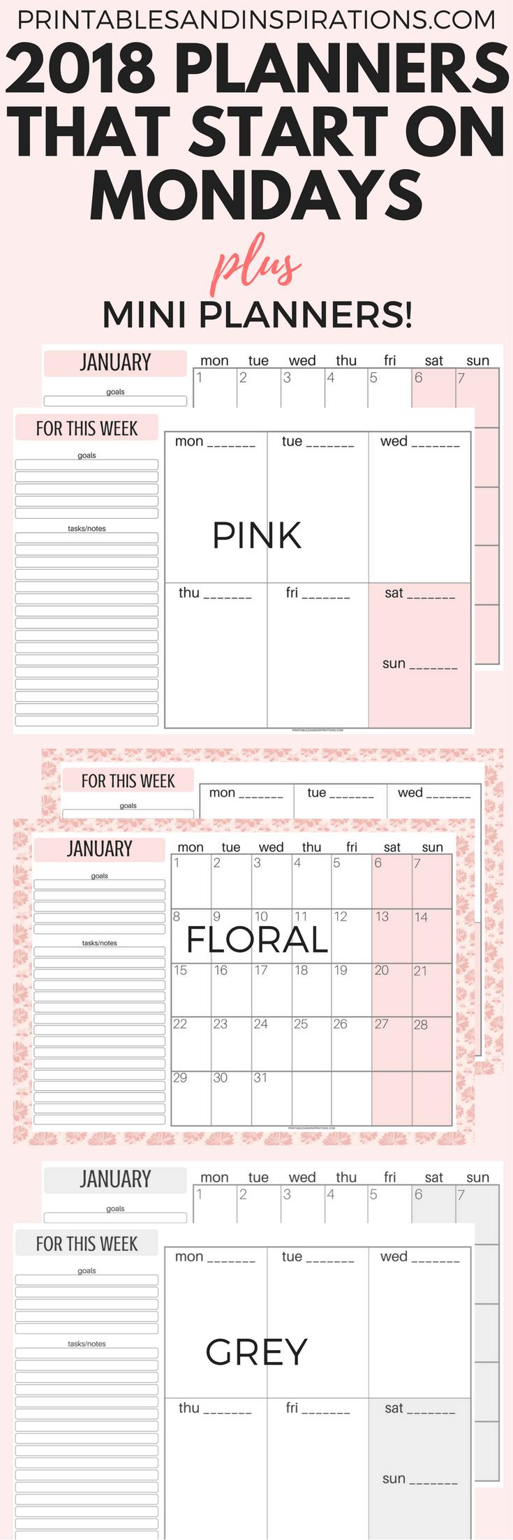 monday calendar 2018 monday start calendar 2018 monday to sunday calendar 2018 monday to sunday weekly planner calendar week starting on monday