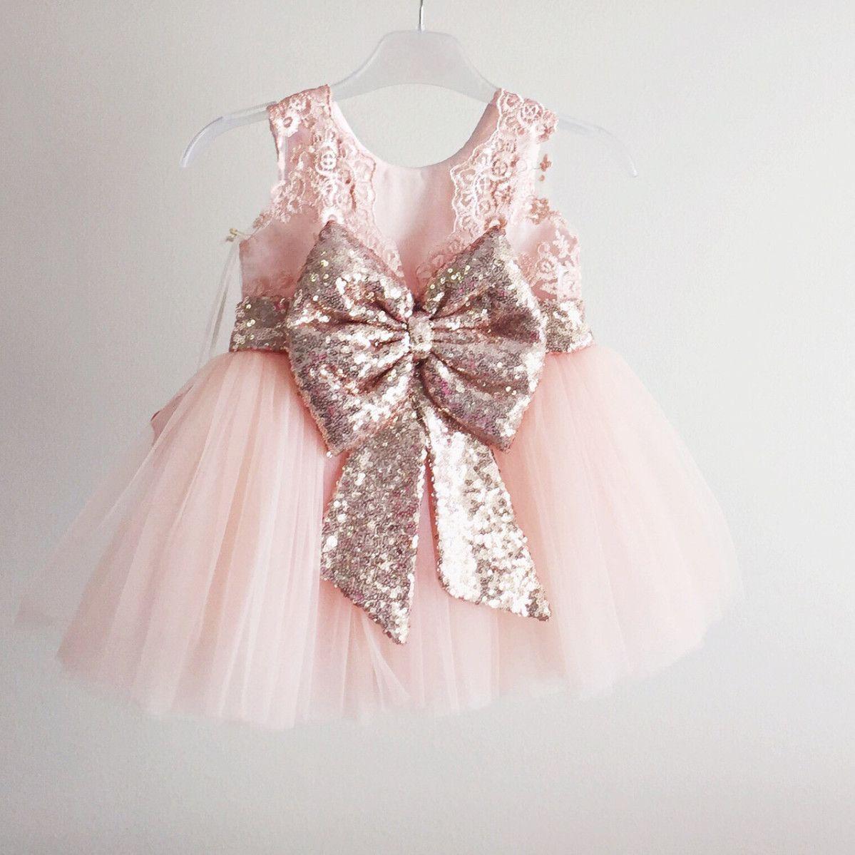 de708964d Princess Aisha Dress (Rose Gold) Vestidos De Niña Elegantes