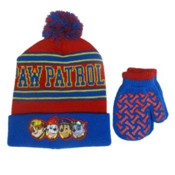 732c8b34c Paw Patrol Knit Hat & Mittens Set - Toddler Boy | Boys Winter ...