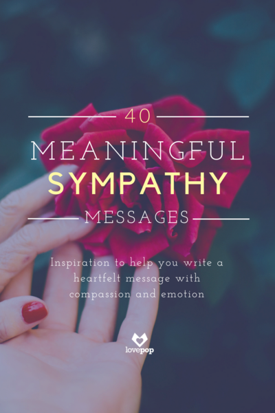 40 meaningful, thoughtful messages for a sympathy card