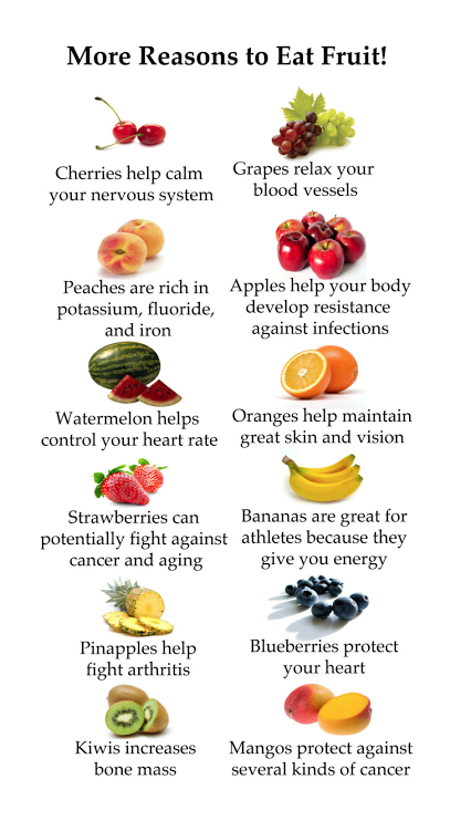 More Reasons to Eat #Fruit ..