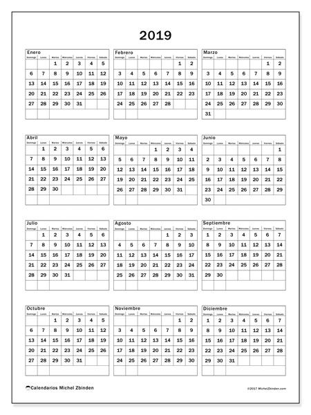 Calendario 2019 (36DS) | Organízate | Calendario anual ...