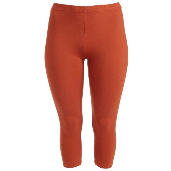 a545f1ec0798c Alisha   Chloe Rust Capri Leggings ( 13) ❤ liked on Polyvore featuring plus  size women s fashion