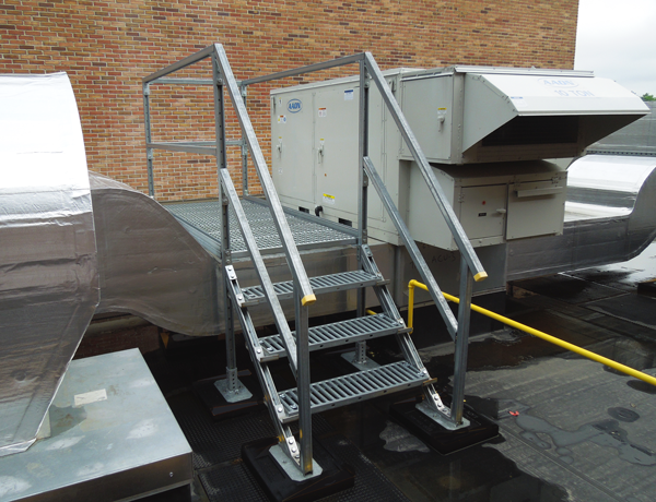 Equipment Acess Platforms Provide Direct Access To Rooftop Equipment Doors Panels For Maintenance Service Of Hvac Condense Rooftop Support System Platform