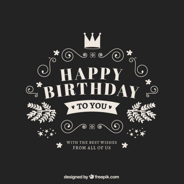 Free Vector Happy Birthday Card In Retro Style 16931 Short Birthday Wishes Happy Birthday Cards Happy Birthday Quotes For Friends