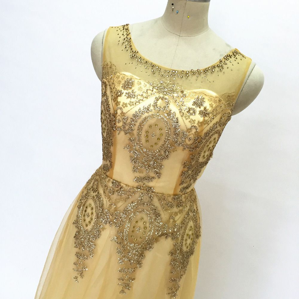 Long bridesmaid dresses gold sequins wedding party dresses for