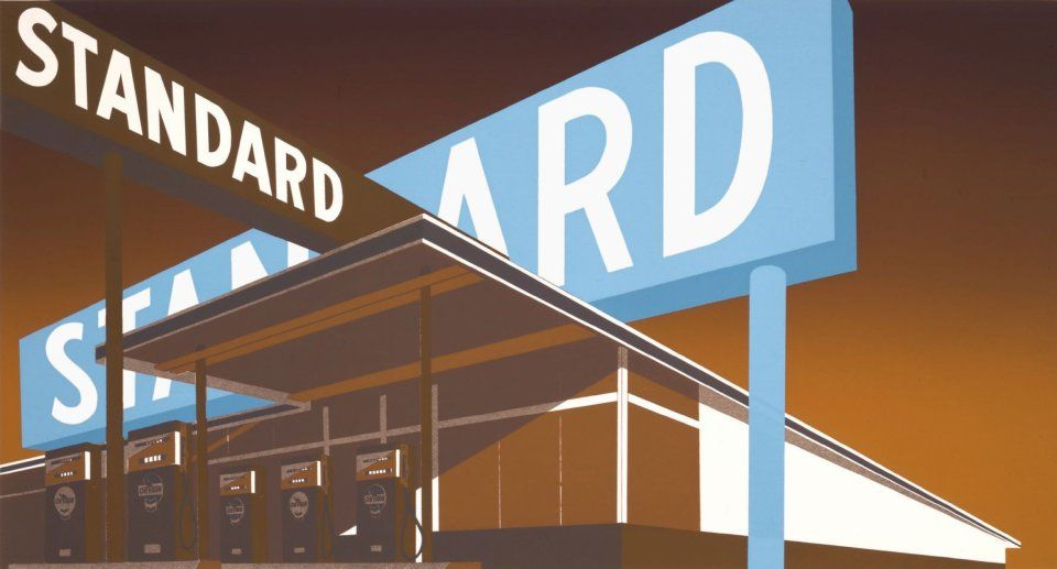 Ed Ruscha, Double Standard, 1970 UBS Art Collection © Ed Ruscha. Courtesy of the artist & Gagosian / UBS Art … | Typography, Double standards, Typographic art print