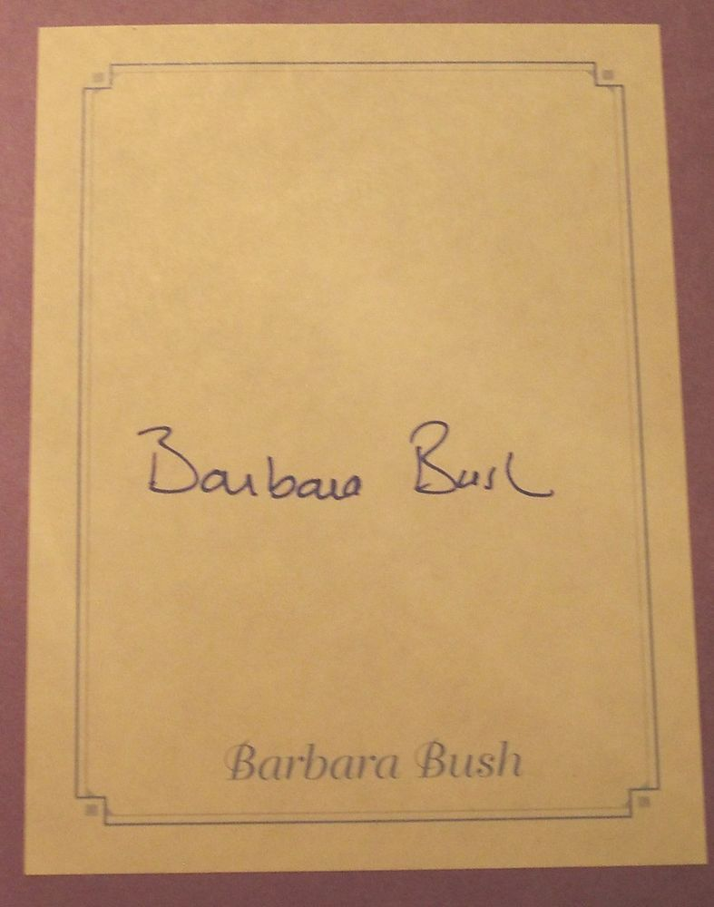 First Lady Barbara Bush SIGNED AUTOGRAPHED 1st Printing Book VERY NICE!