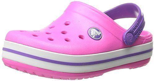 quality design 692b2 de45c Crocs Crocband - Zuecos con correa para niños, color rosa... https