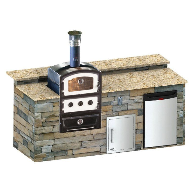 Fornetto Alto Wood Fired Built In Pizza Oven Smoker Outdoor Pizza Ovens At Hayneedle Pizza Oven Pizza Oven Outdoor Pizza Oven For Sale