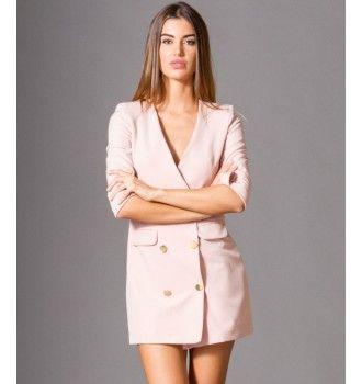 a7ae77238303 Σακάκι Μίνι Φόρεμα με Χρυσά Κουμπιά - Μake up