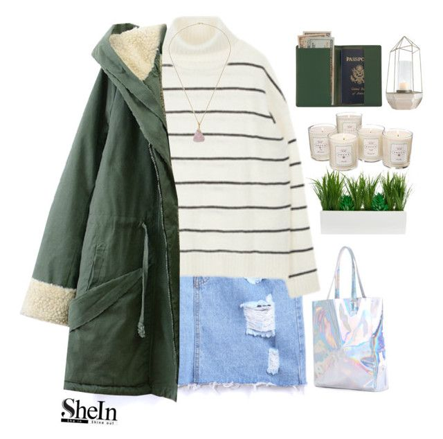 """#SheIn"" by credentovideos ❤ liked on Polyvore featuring moda, Royce Leather, Tocca e Creative Co-op"
