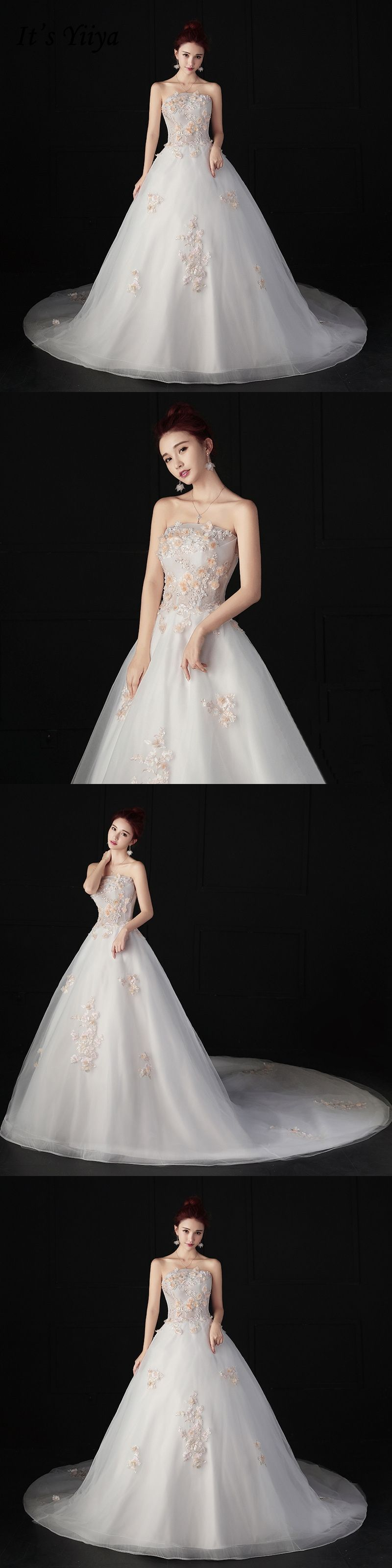 Itus yiiya off white sales strapless vestidos de novia wedding frock