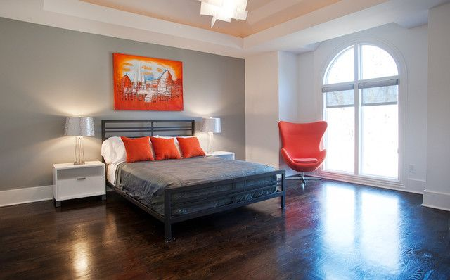 Modern Bedroom Gray bedroom walnut bedroom sets contemporary orange and grey bedroom