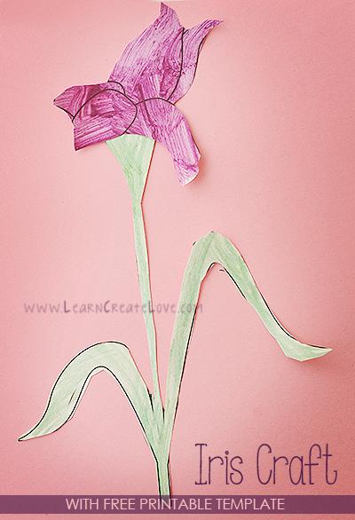 Printable Flower Craft Iris Flower Crafts Flower Printable Learn Crafts
