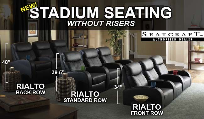 home theater chairs. seatcraft rialto home theater seating - leading online retailer of seats order your chairs