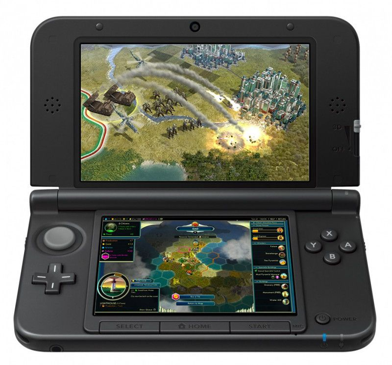 The 3DS runs higher resolution games than the DS