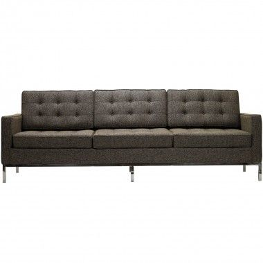 Florence Knoll Style Sofa In Fabric Multiple Colors Materials