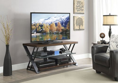 Whalen Furniture Tv Console For Most Flat Panel Tvs Up To 55 Medium Brown Bbavc48 Smb Best Buy In 2021 Whalen Furniture Flat Panel Tv Furniture
