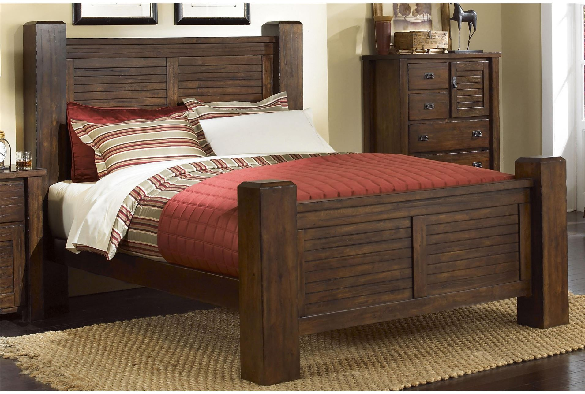 Canyon Queen Poster Bed at Living Spaces | Furniture | Pinterest ...