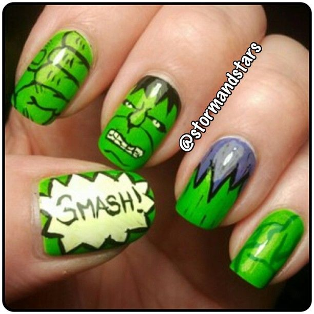 Hulk Smash Nail Art... I Need To Try This!!!:)
