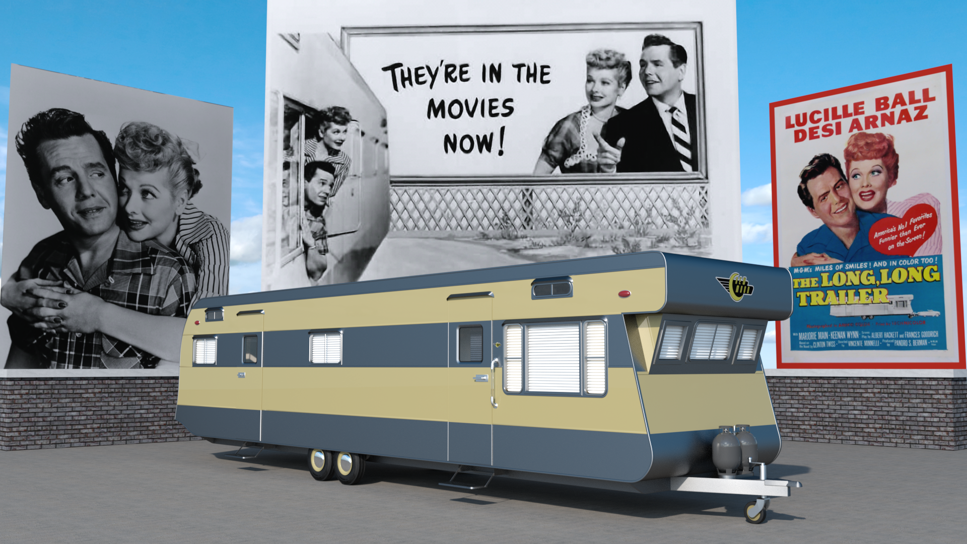 3d reconstruction of the 1953 redman new moon trailer