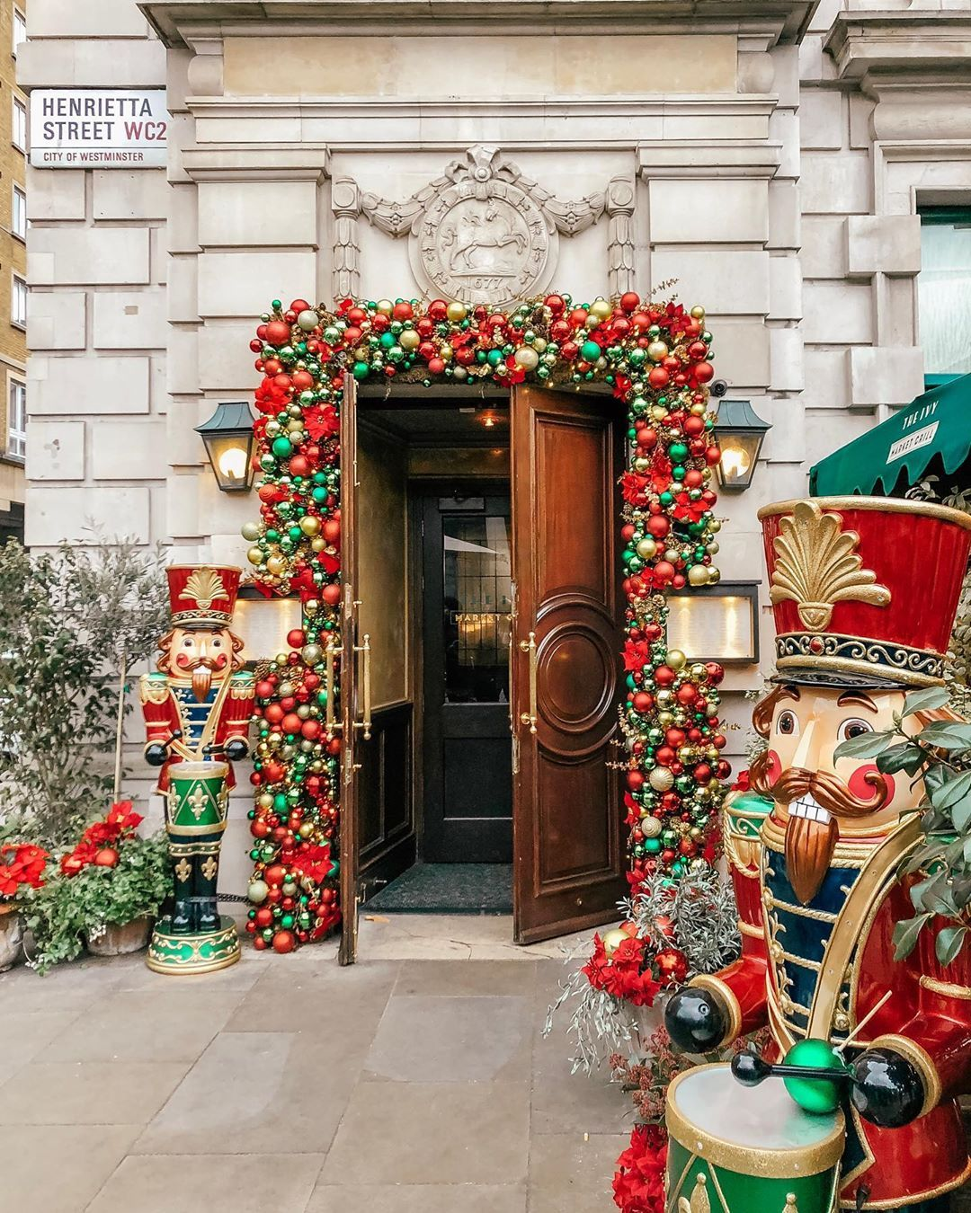 The Ivy Market Grills In London In 2020 Christmas Balloon Decorations Commercial Christmas Decorations London Christmas
